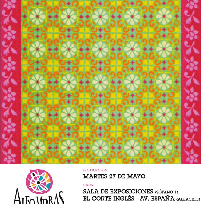 Exposición de las Alfombras de Serrín en el Corte Inglés de Albacete.
