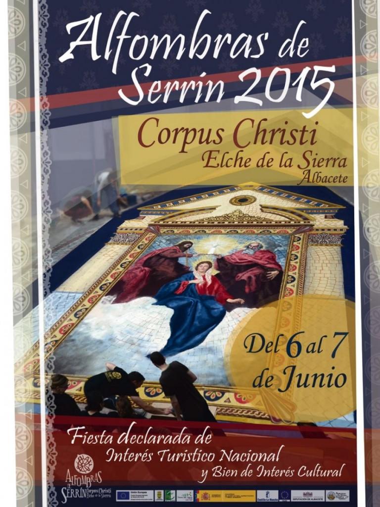 Alfombras de Serrín Elche de la Sierra Corpus Christi 2015