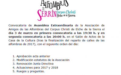 CONVOCATORIA ASAMBLEA EXTRAORDINARIA DE SOCIOS