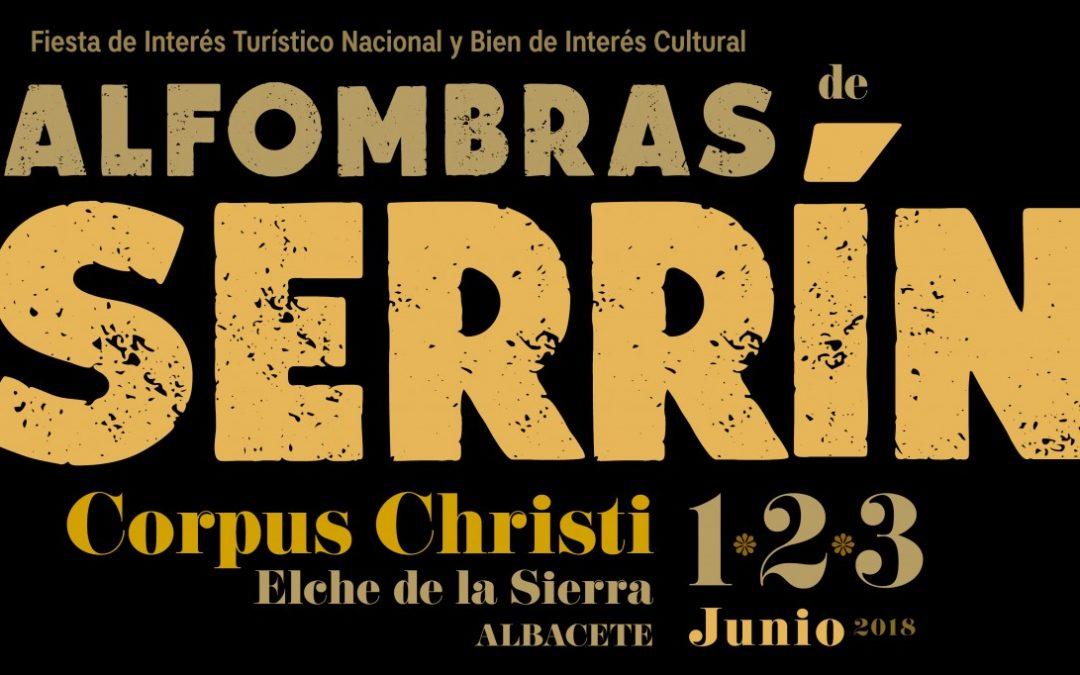 Cartel Corpus Christi 2018. Alfombras de Serrín Elche de la Sierra (Albacete)