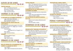 Programación Corpus Christi 2018 de Elche de la Sierra (Albacete) 2019
